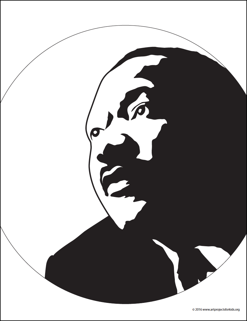 Martin Luther King Silhouette | Reloj y Frases