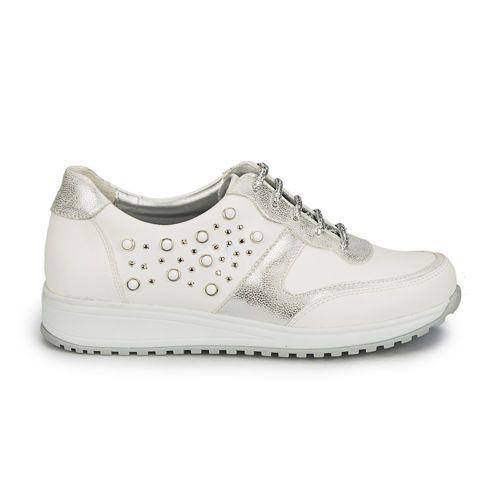Polaris 81 311398 Z Beyaz Kadin Pu Ayakkabi Ayakkabilar Kadin Moda
