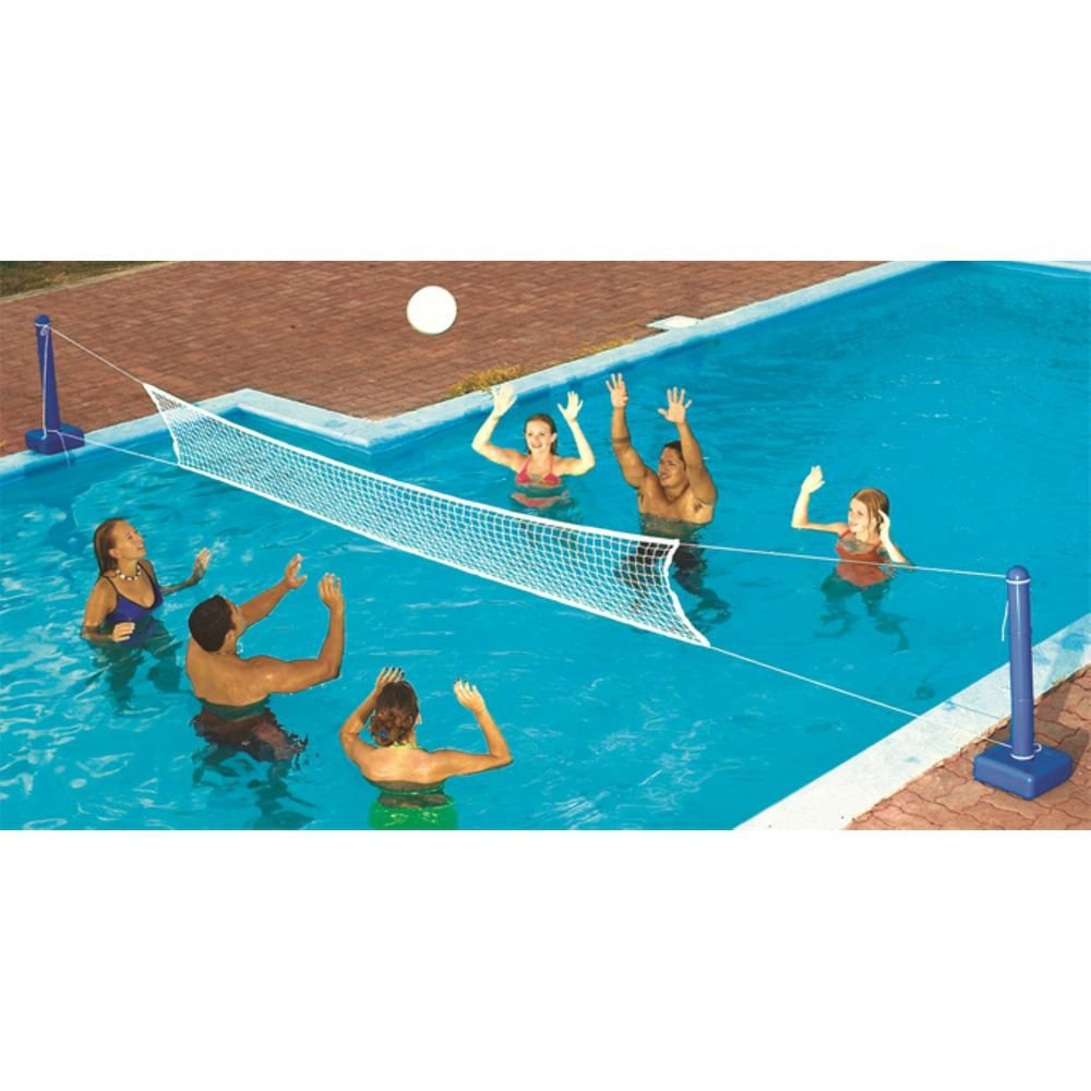 Swimline Cross Inground Swimming Pool Fun Volleyball Net Game Water Sets 2 Pack Multi Cool Pools Outdoor Water Activities Pool Toys For Adults