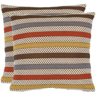 @Overstock - With a fresh, contemporary eye-catching pattern, this decorative pillow is a lovely addition to any decor. This throw pillow features a modern print design with a handwoven polyester cover.http://www.overstock.com/Home-Garden/Honeycomb-18-inch-Brown-White-Decorative-Pillows-Set-of-2/6641114/product.html?CID=214117 $52.99