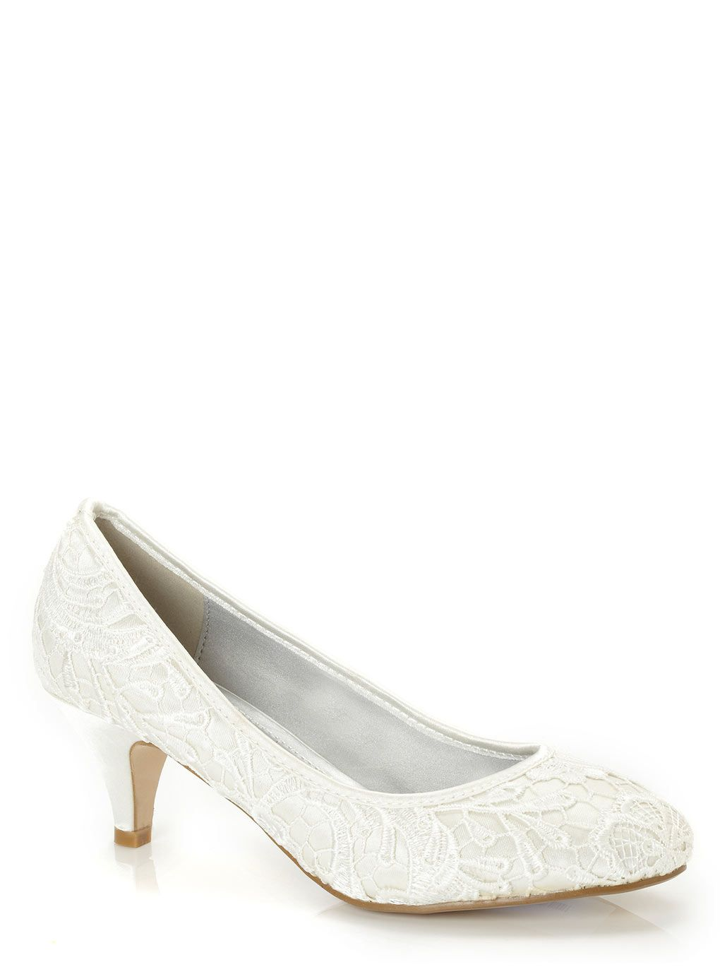 Ivory Low Heel Lace Court Shoe GBP3200 3cm Available In A Variety Of Colours