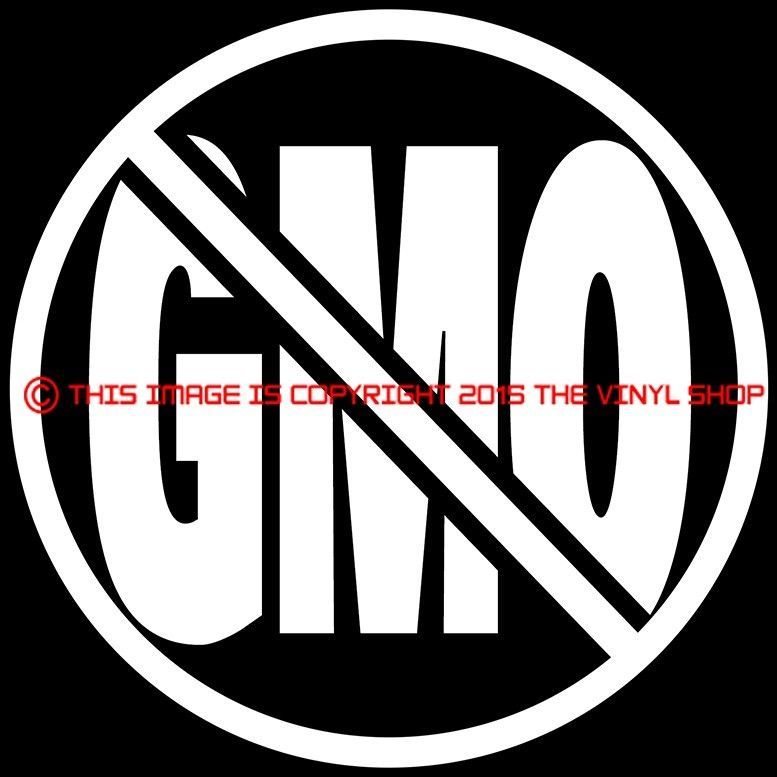 X1 no gmo genetically modified organism are bad 100 organic decal sticker