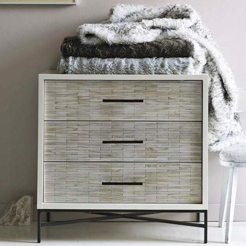 Storage Furniture - Wood Tiled 3-Drawer Dresser | west elm - wood tiled, 3 drawer, dresser