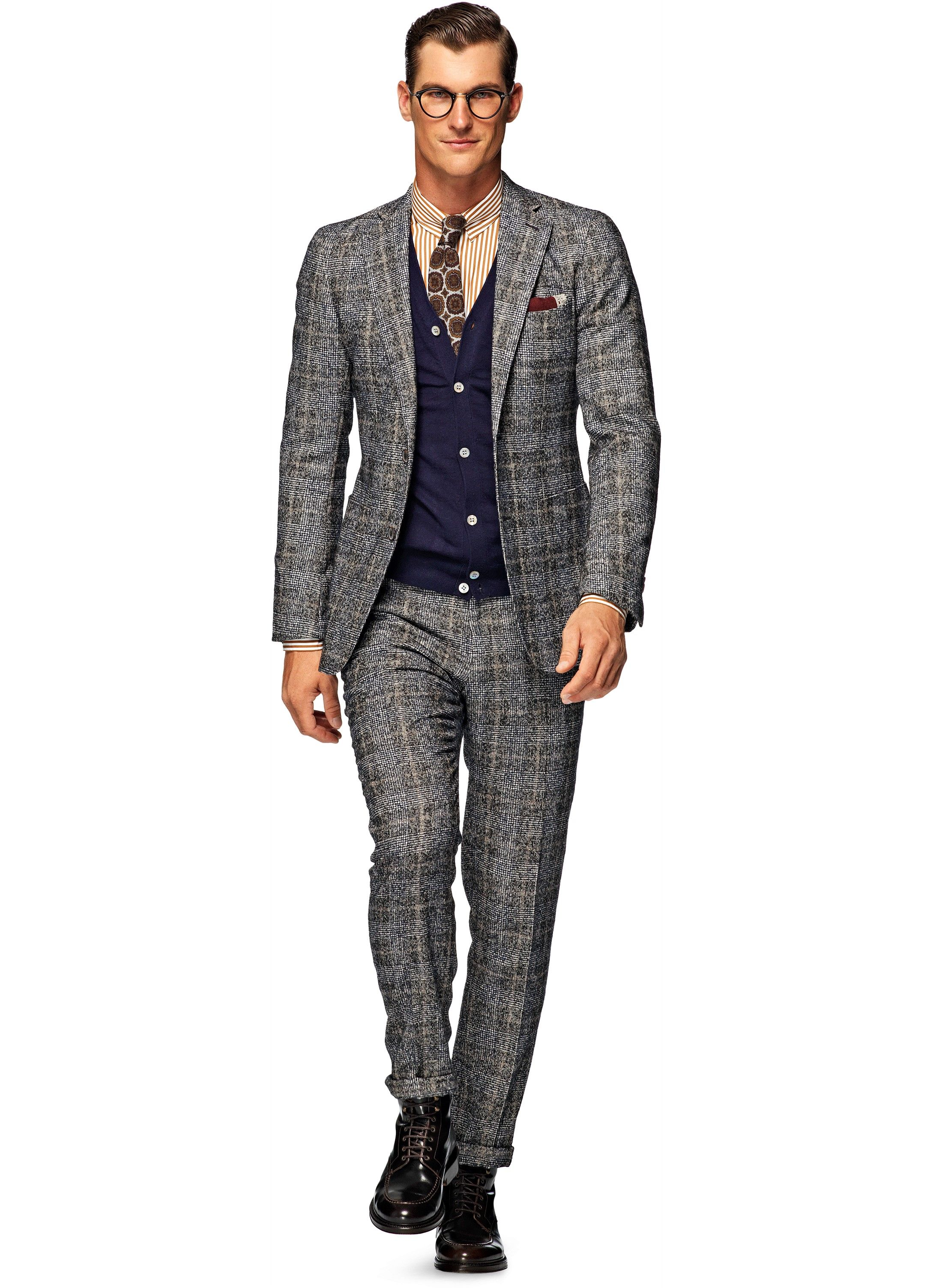 3f5798ab0021d Suit Grey Check Havana P3932i | Suitsupply Online Store | Things to ...
