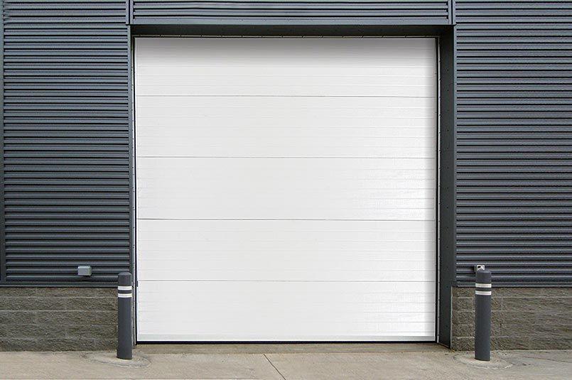 Insulated Steel Back Sectional Steel Door Model 470 Back Doors Doors Fire Rated Doors