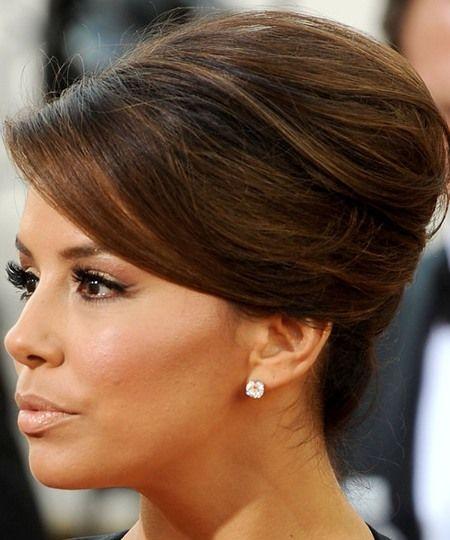 Eva Longoria Wedding Hair Style: Eva Longoria French Twist Updo