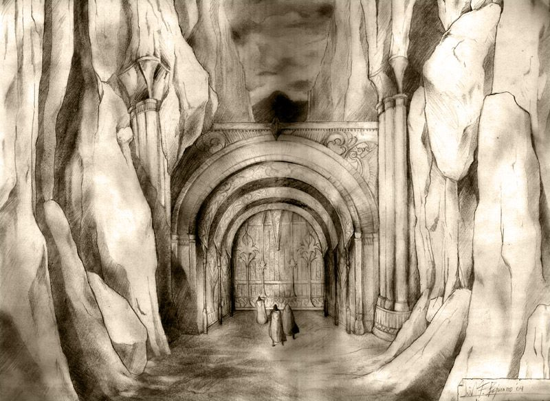 Gondolin - The Gate of Wood by LuisFBejarano - The first gate of fair Gondolin, which fell in the First Age.