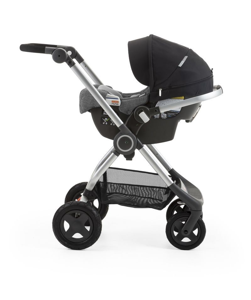 StokkeR PIPATM By NunaR Car Seat Black Mounted On ScootTM USA Only
