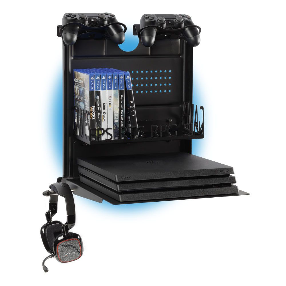The Perfect Mount For Your Videogame Passion Horizontal Wall Mount Ps4 And Xbox Gameside Bundle Big Daddy Ps4 Jogos Game