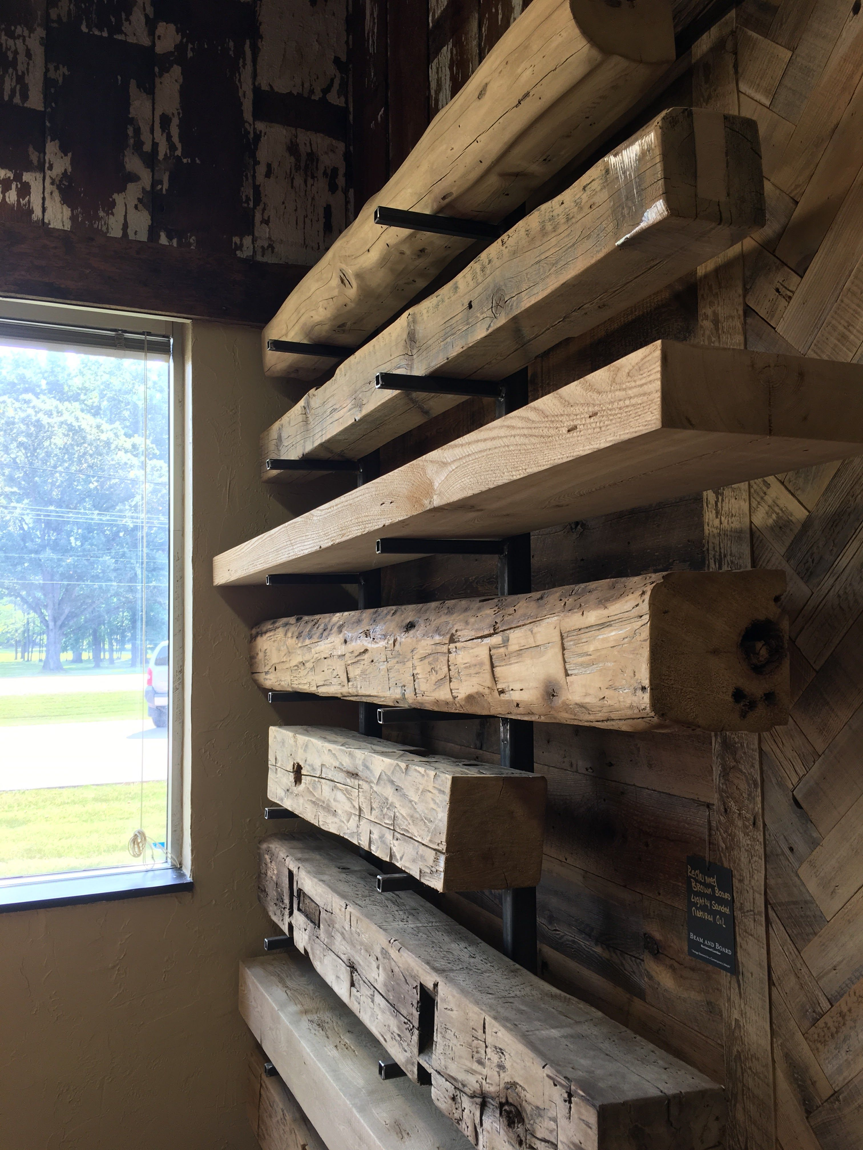 Reclaimed Hand Hewn And Sawn Cut Mantels Available In Our