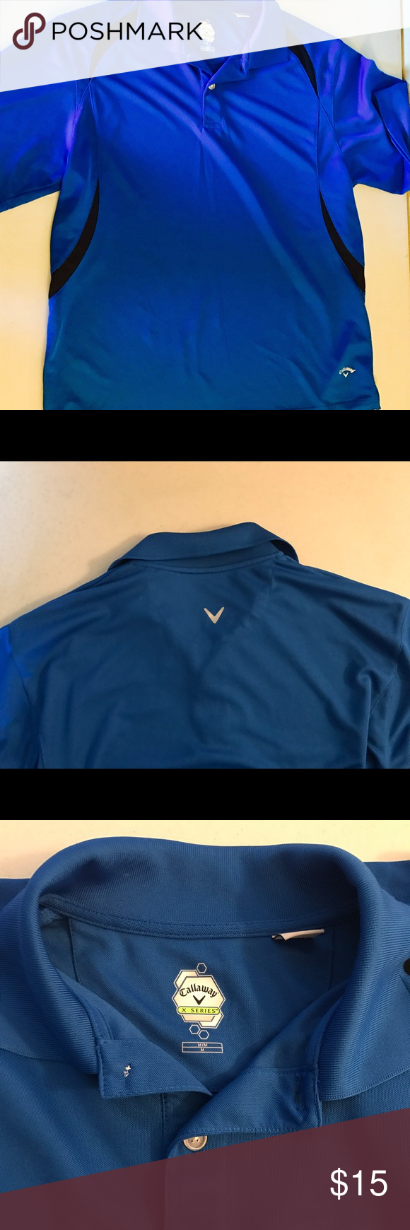 Callaway Men's M Golf Shirt EUC royal blue with some black detail, Callaway golf shirt. Men's Medium, runs a bit big. Get ready for the season! Callaway Shirts Polos