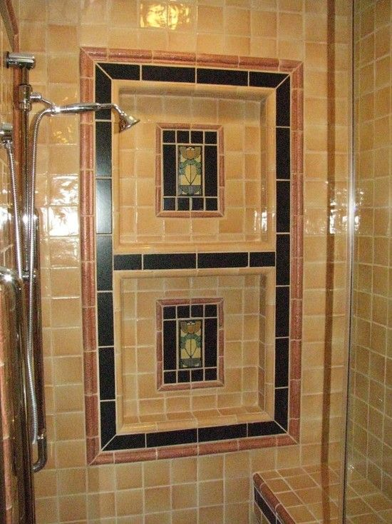 Craftsman Shower Tile Design Bathroom Details Tile Shower - la maison de l artisan