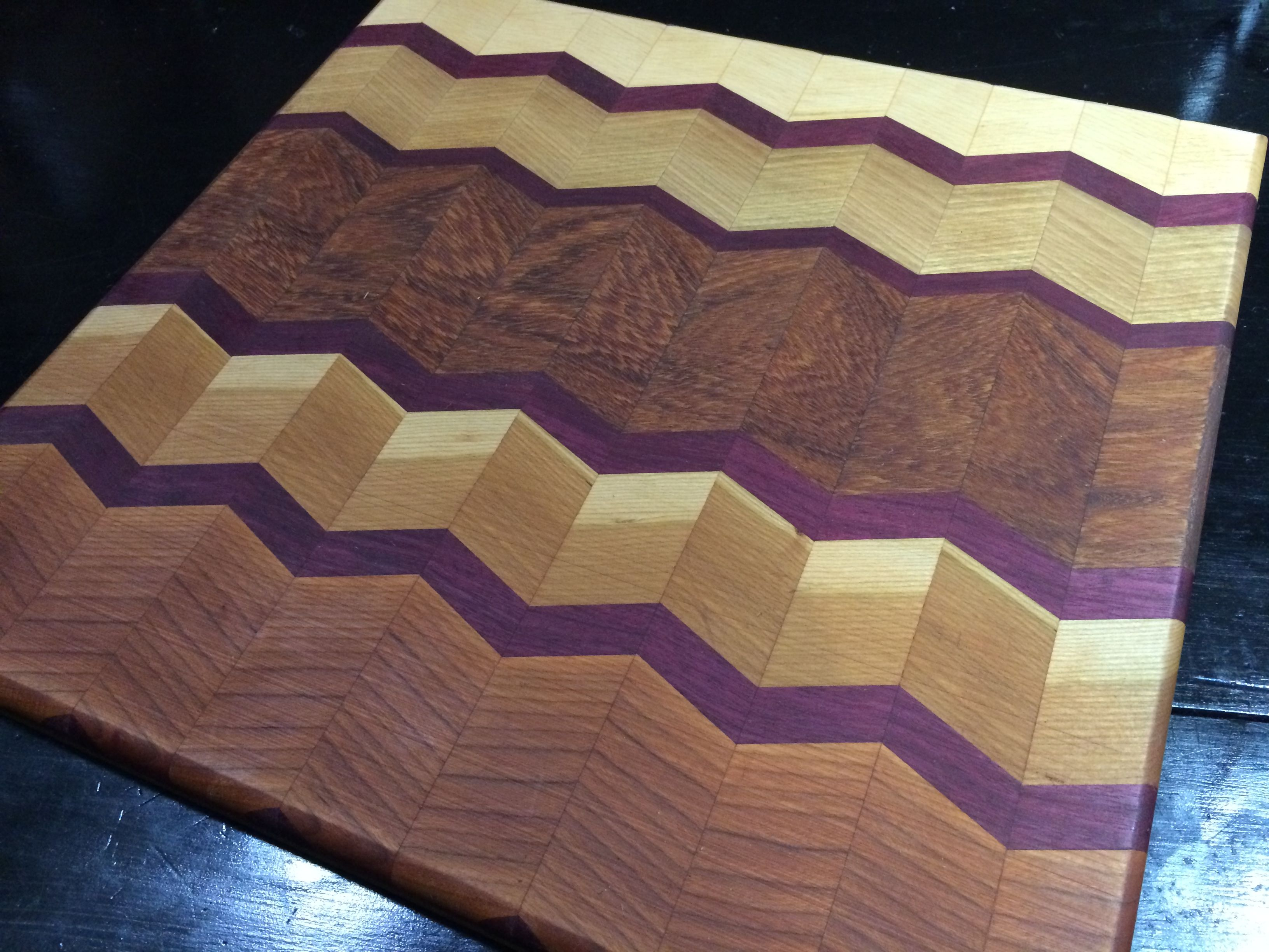 excellent design cool cutting boards. Our chevron herringbone design cutting board made with purple heart  brazilian cherry maple