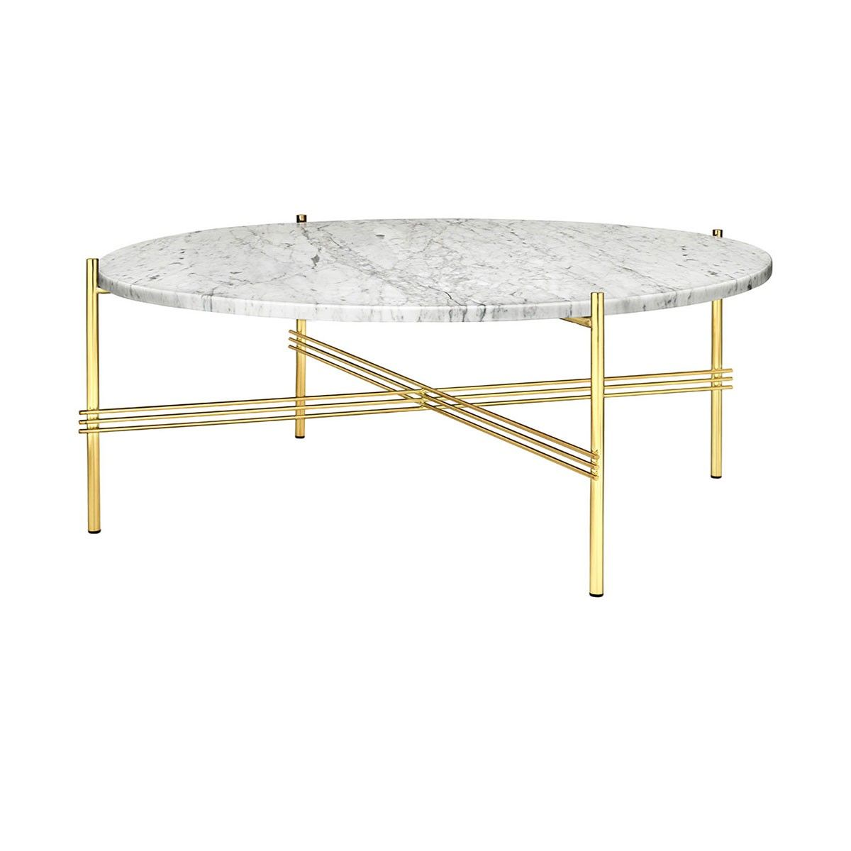 Ts Table Xl Pieds Laiton Plateau Marbre Gubi Table
