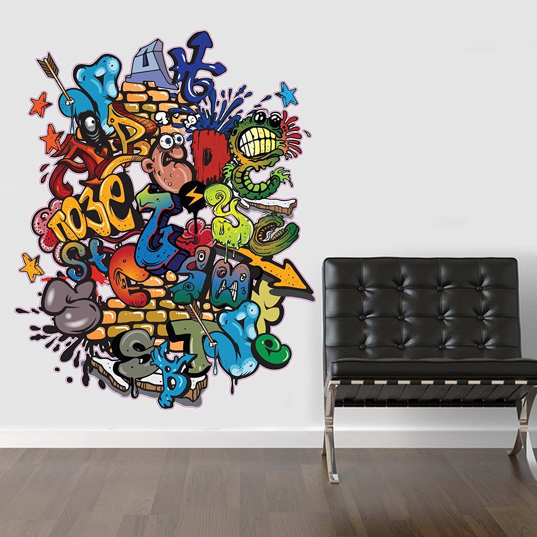 V&C Designs Ltd (TM) LARGE Full Colour Graffiti Wall Sticker Wall Decal  Wall Art