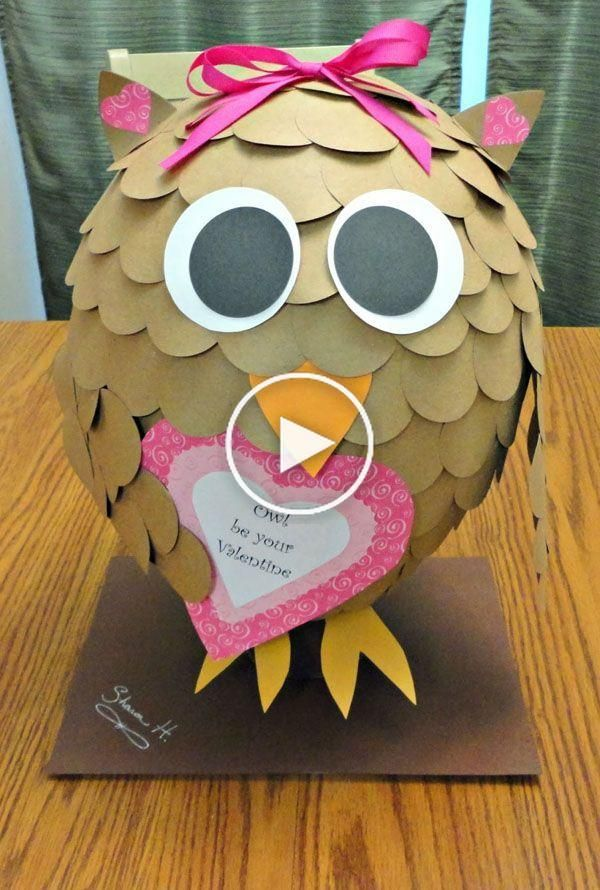 Valentine Box Ideas to Wow the Class! #tidepodscontainercrafts Owl by Your Valentine | Featured