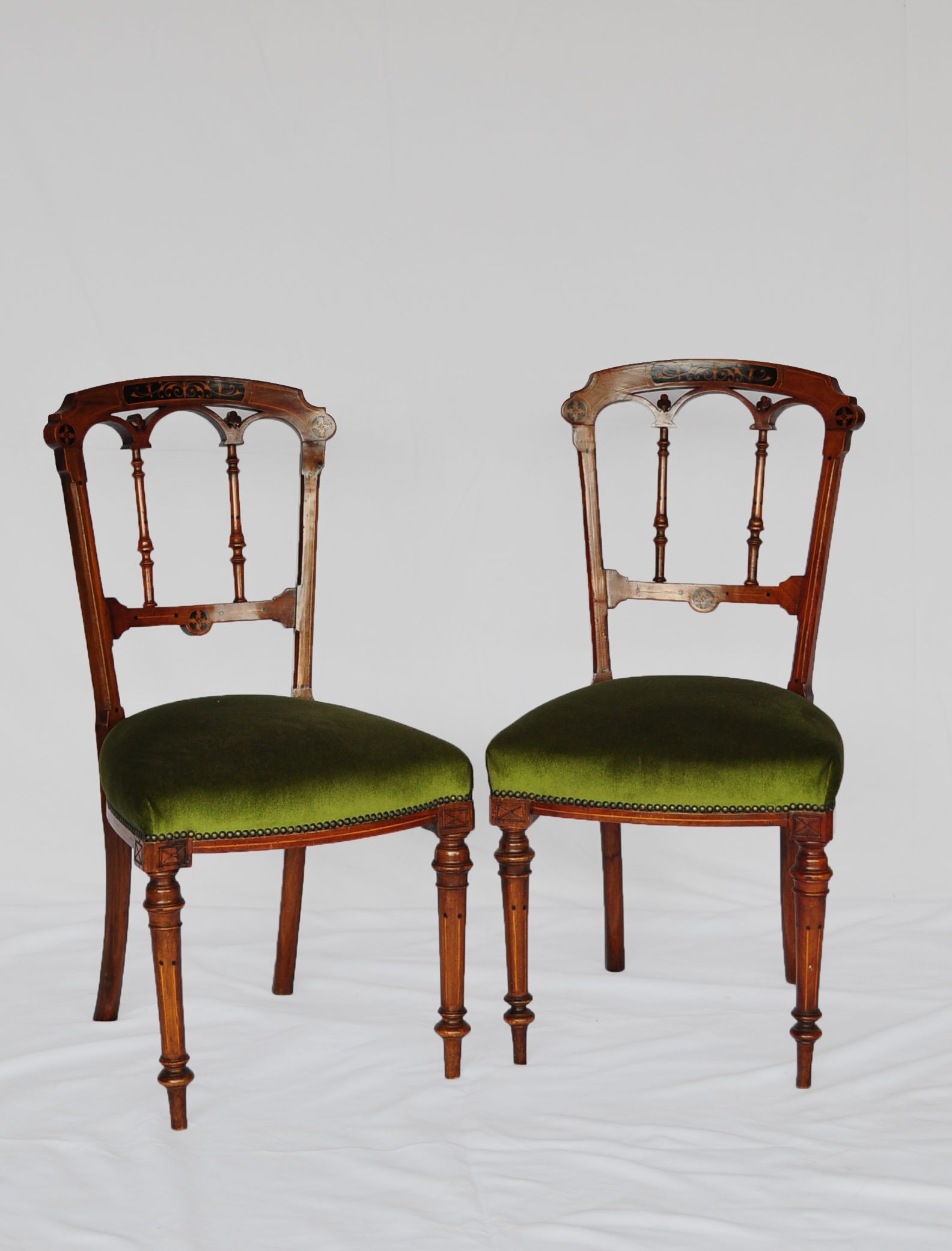 A set of six george iii antique mahogany chairs with green seats www northcliffantiques com georgeiii chairs antique mahogany southafrica