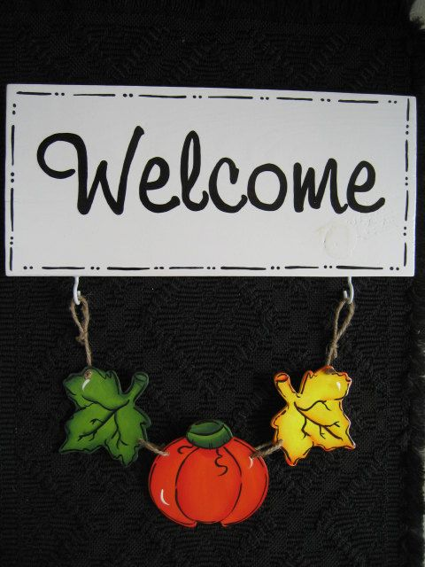 Welcome Sign Seasonal Welcome Sign With 3 Sets Of Interchangeable 3 Piece Charms Hand Painted Door Hanger Wooden Welcome Signs Outdoor Welcome Sign Painted Doors