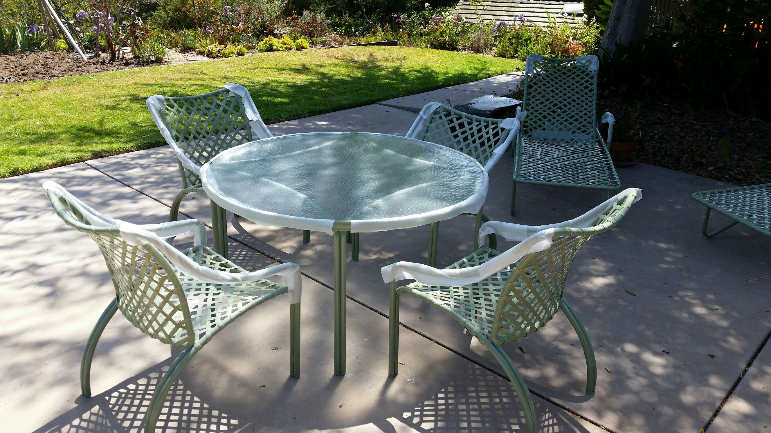 Brown Jordan Lounger Set With Table Restored By Cfrpatio Patio