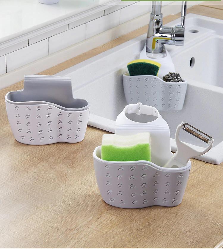 Sink Sponge Holder Gadgets For Kitchen Sponge Holder Caddy Dish Drainer Faucet Storage Adjustable Strap Soap Kitchen Sponge Holder Sponge Holder Kitchen Sponge