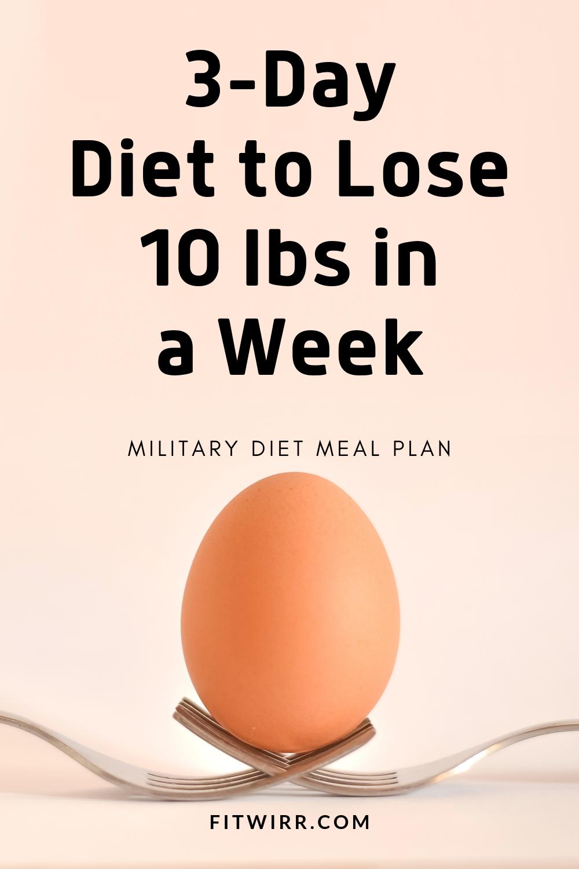 diète 3 jours 10 livres
