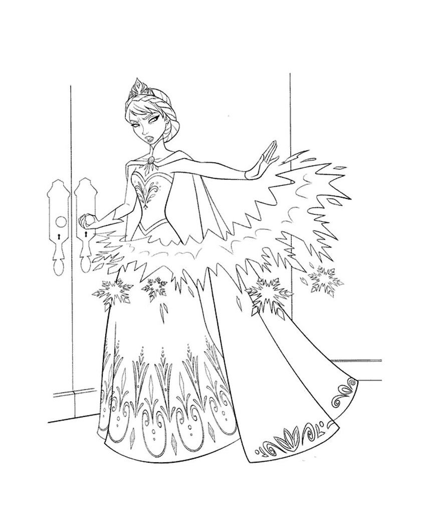 Disney Frozen Coloring Page 5 | Frozen | Pinterest | Imaginación ...