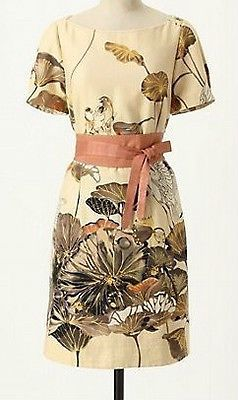 22a607832a22a Details about Rare 0 XS PXS NWT Anthropologie Floreat Snowy Egret ...