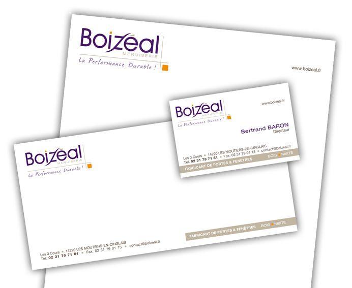 Boizeal Papeterie Papierentete Cartedevisite Cartecommerciale
