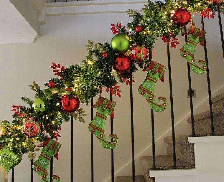 Escaleras De Metal Ideas Para La Casa Pinterest Escaleras De - Ideas-para-decorar-en-navidad