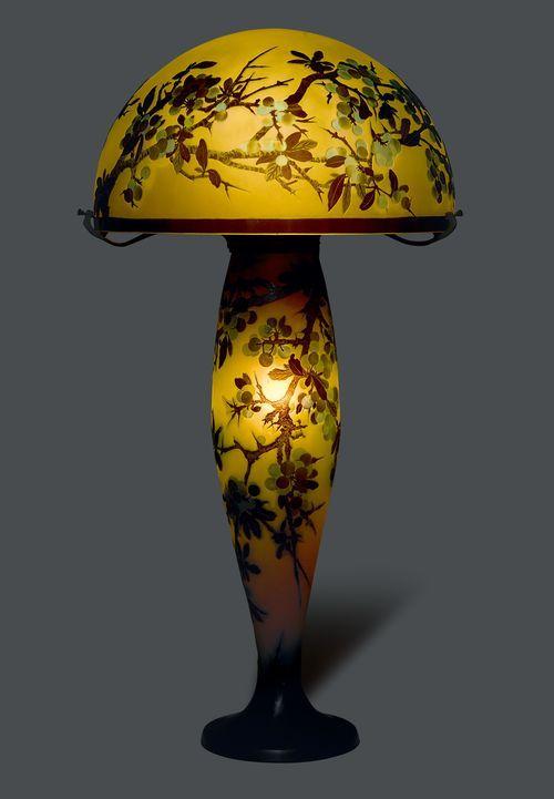 emile galle lampe art deco lampe
