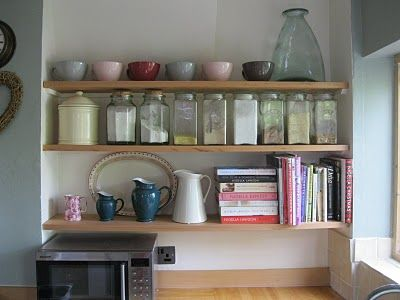 From Modern Country Style Blog: Modern Country Kitchen: Shelf Reveal