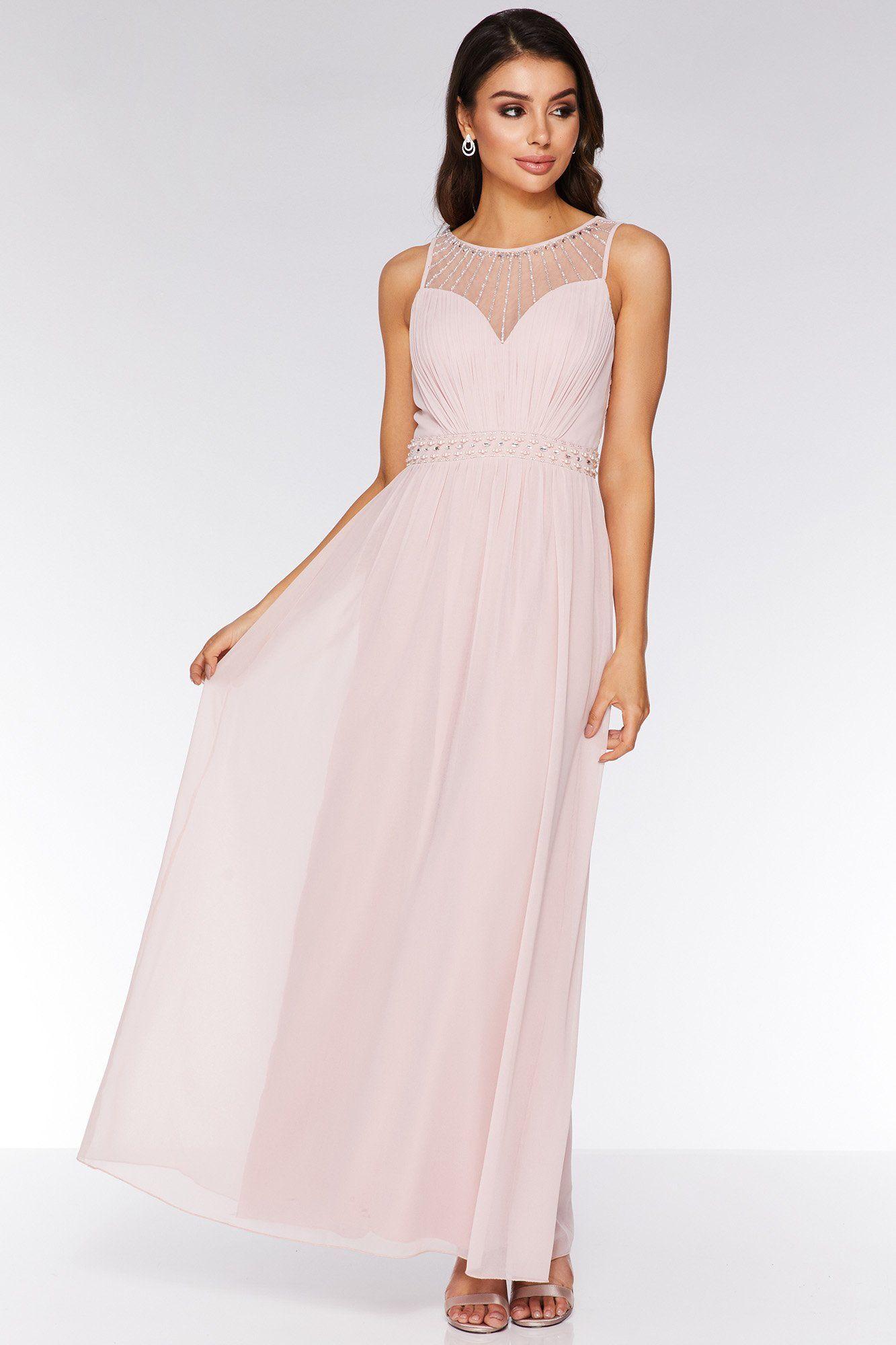 2fdd95e77233ed Pink Chiffon High Neck Maxi Dress in 2019 | prom | Dresses, Chiffon ...