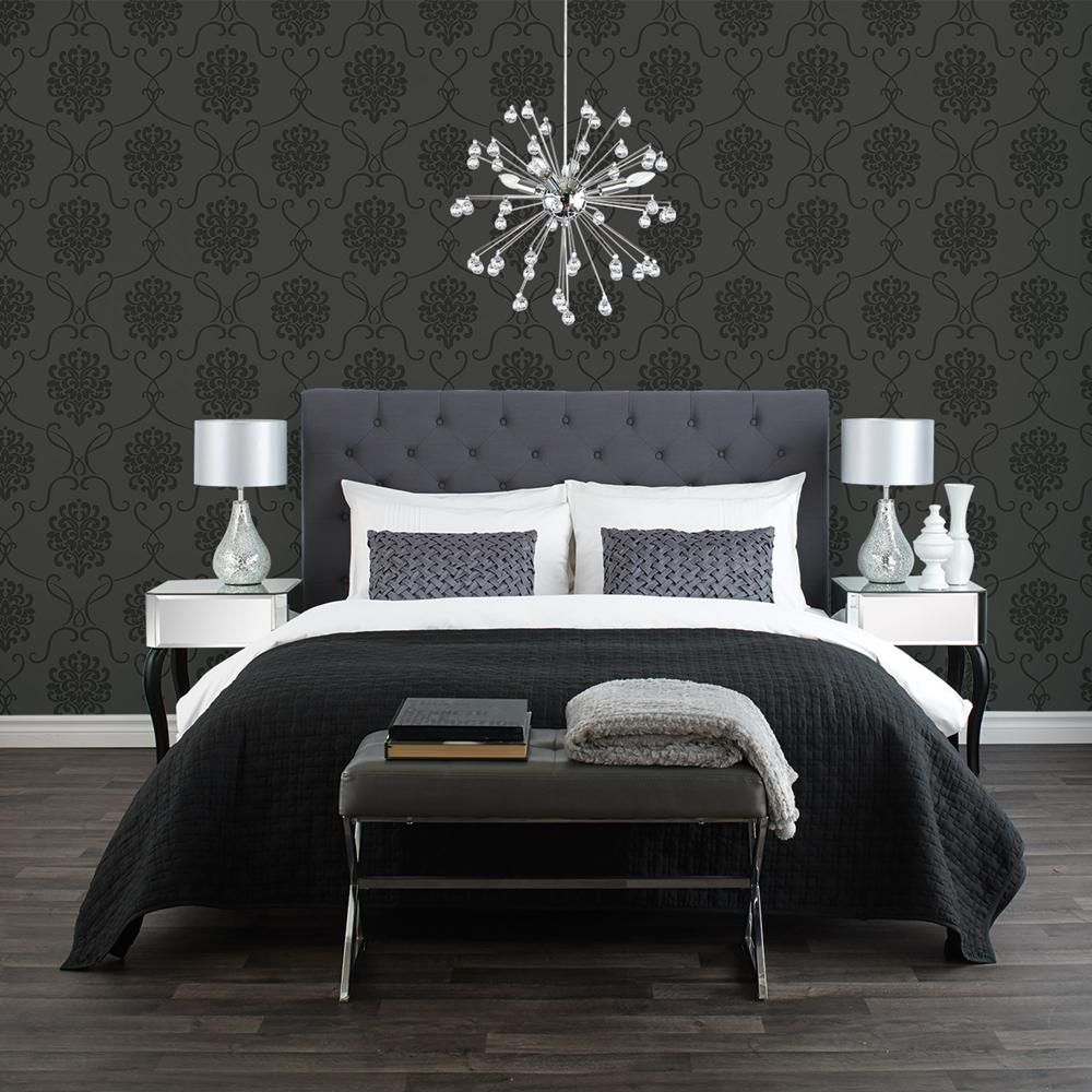 papier peint baroque rouleau double papiers peints d cor mural chambres. Black Bedroom Furniture Sets. Home Design Ideas