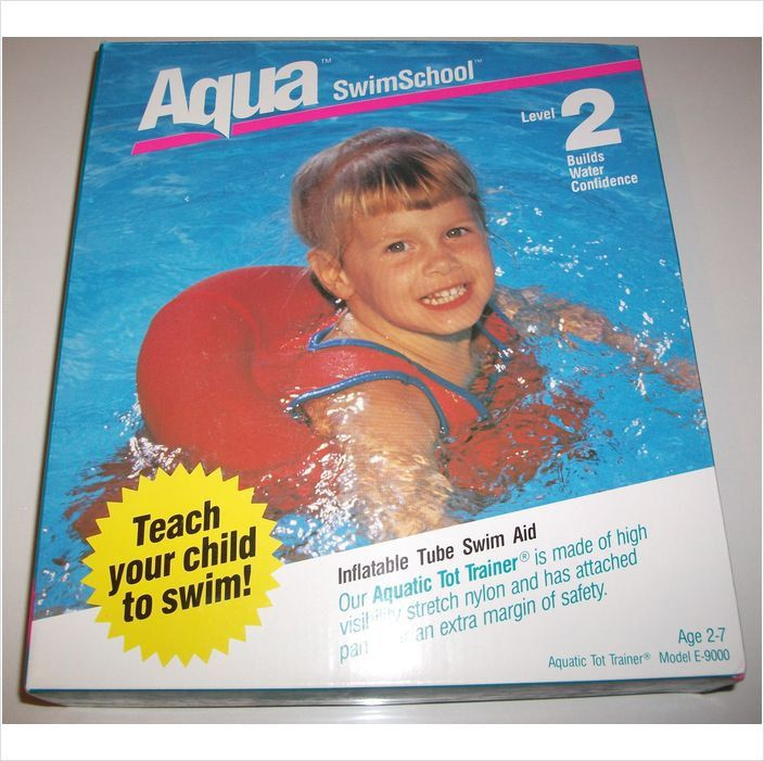 Vintage #1980's style look #childrens swimwear 2-3-4-5-6Yr Aqua #Inflatable s,  View more on the LINK: http://www.zeppy.io/product/gb/3/213808583/