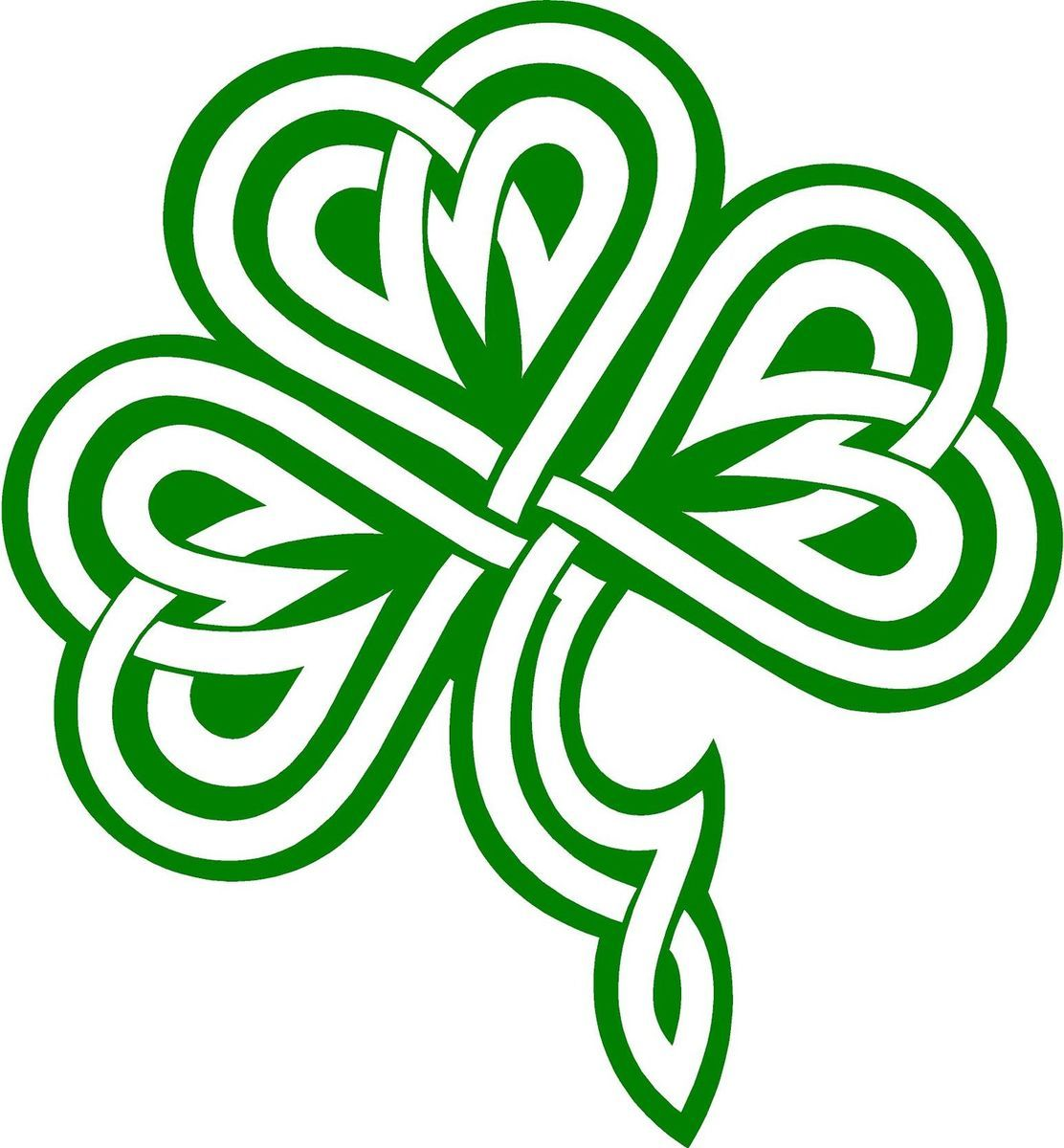 Clover / Shamrock Celtic Knot Decal /Sticker You Pick Color ...