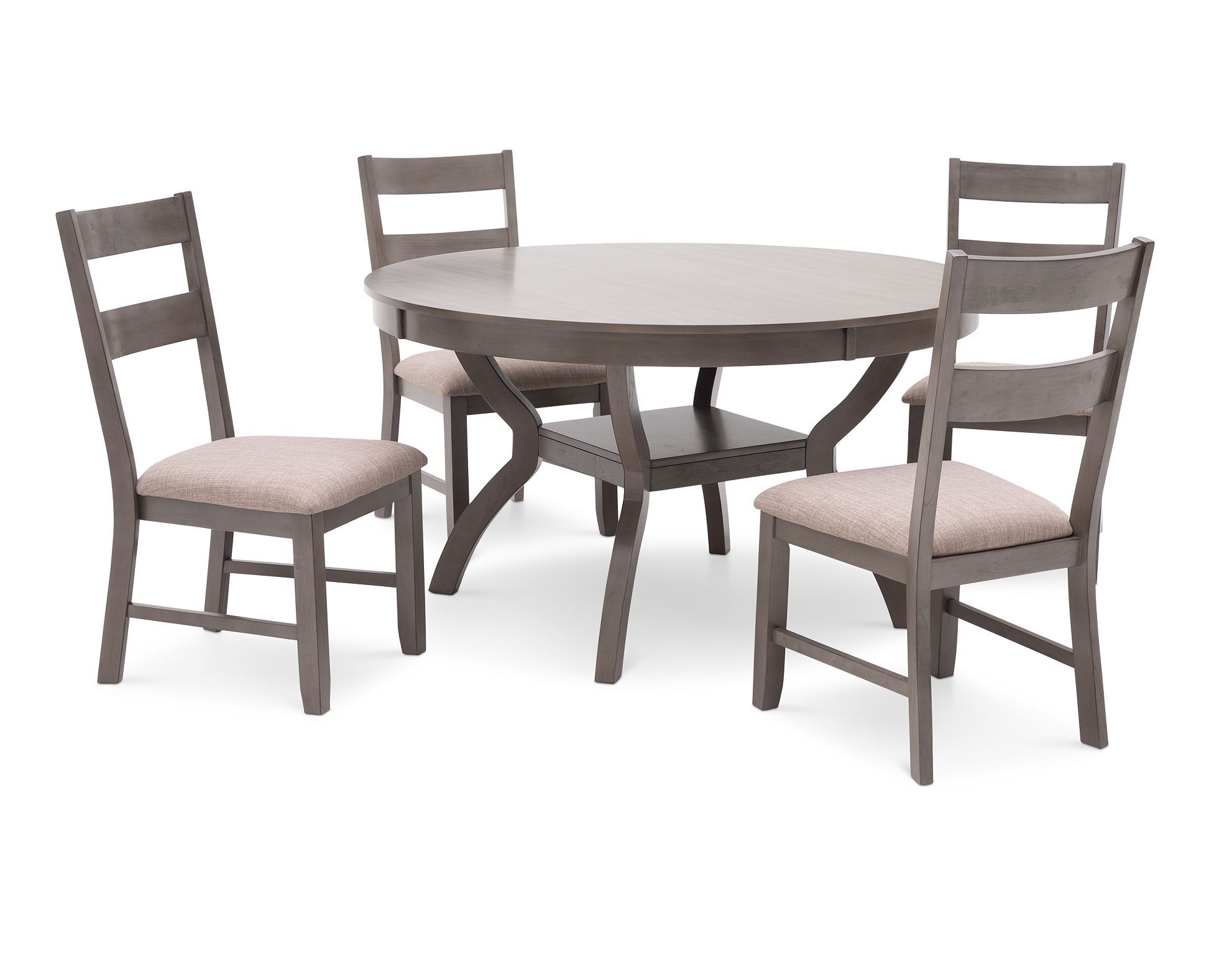 Grigio 5 Pc Dining Room Set Is Streamlined With Contemporary Styling In Cool Gray Finish Furnit Kitchen Table Chairs Rowe Furniture Round Dining Room Sets Kitchen table chairs for sale