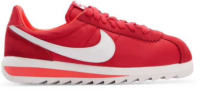 Nike Cortez canvas and suede sneakers