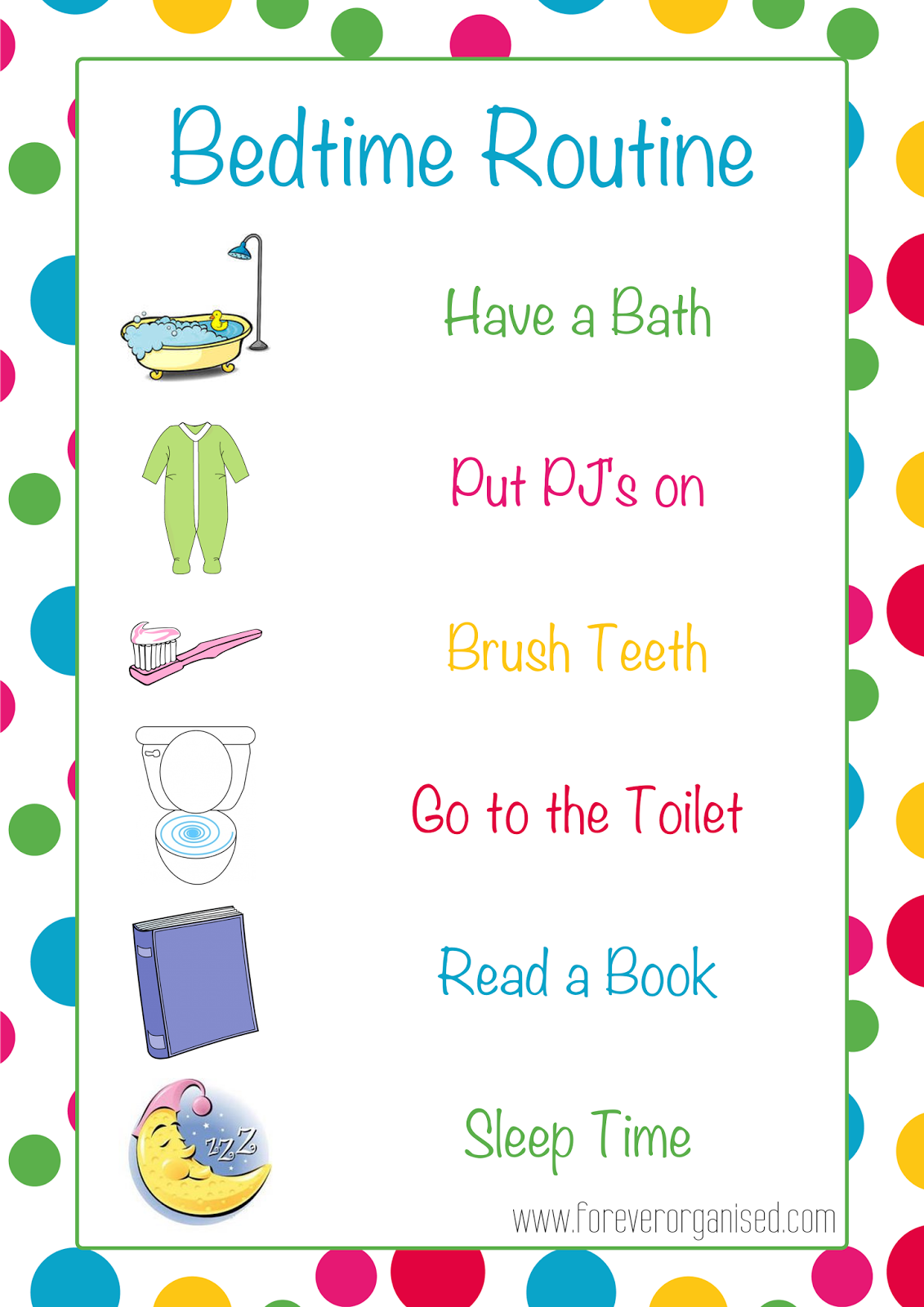 preschool bedtime routine chart morning and bedtime routines for www 443