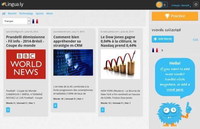 Lingua ly Teaches You English, French, Spanish, Arabic