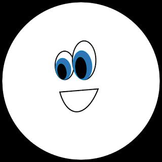 Circle shape. Black white clipart free
