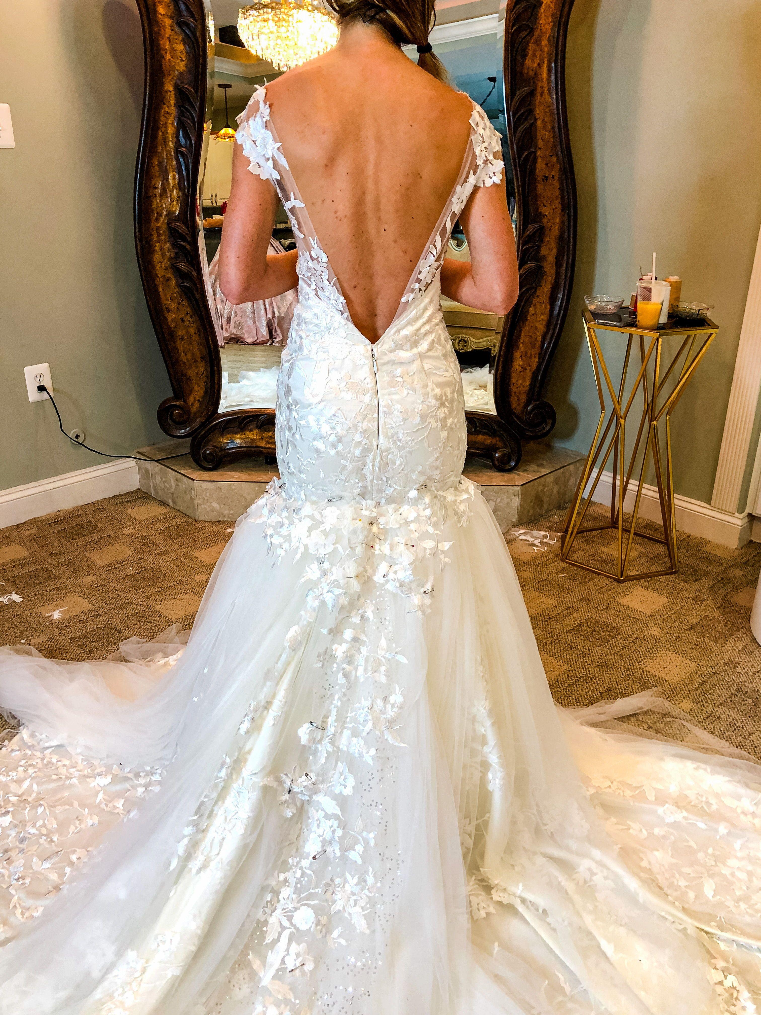 My Dress Story Agina's Dramatic Custom Wedding Dress ...