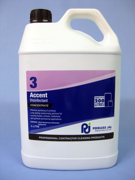 Accent Disinfectant Sanitiser 5ltr Musk Fragrance Cleaning