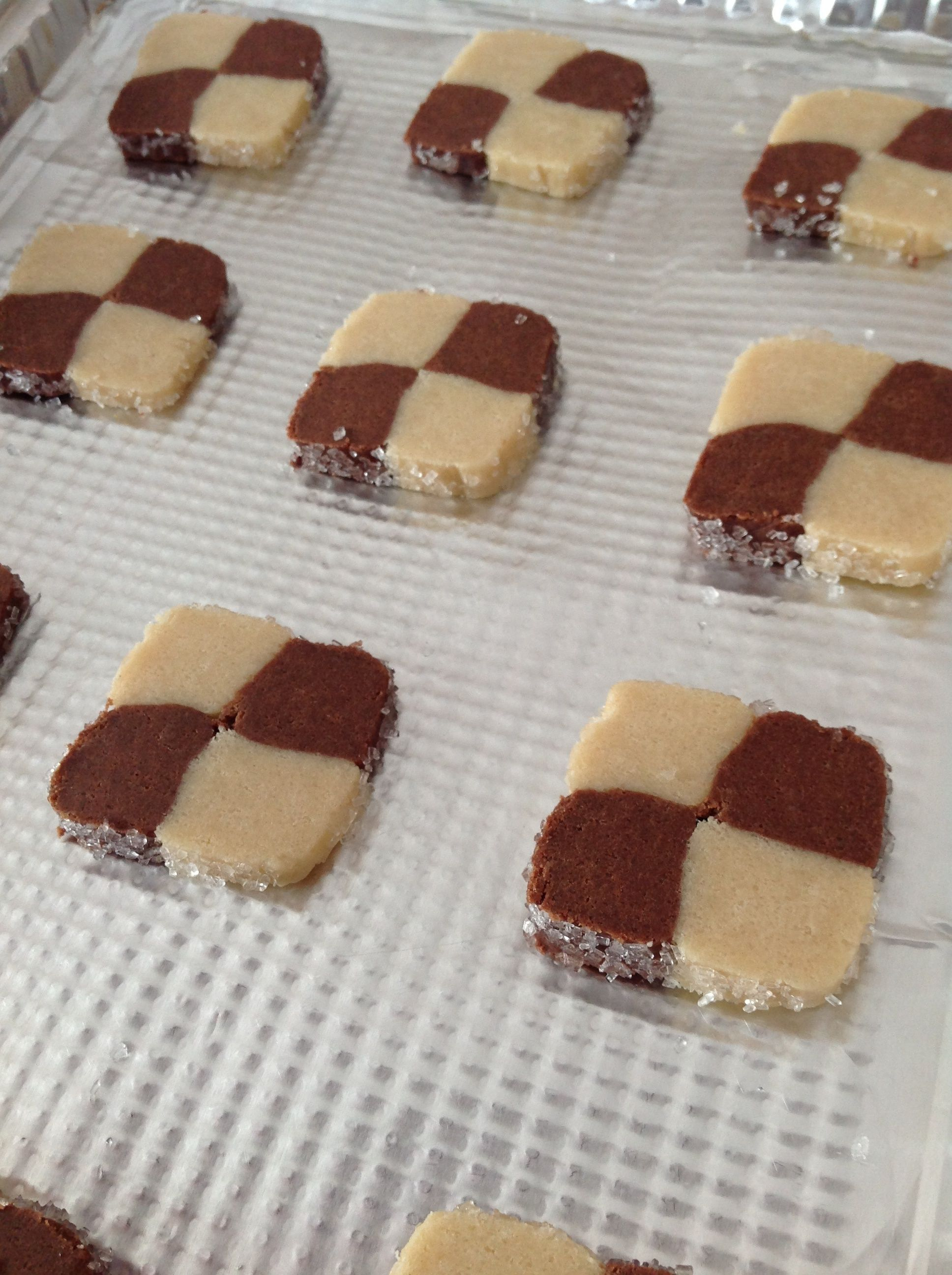 Checkerboard Christmas cookies
