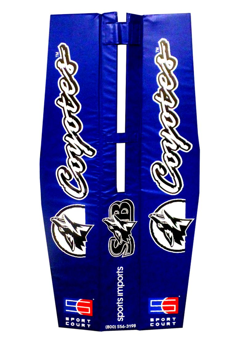 Coyotes Customized Volleyball Pole Pads With Sport Court Logo Volleyball Equipment Volleyball Net Outdoor Volleyball Net