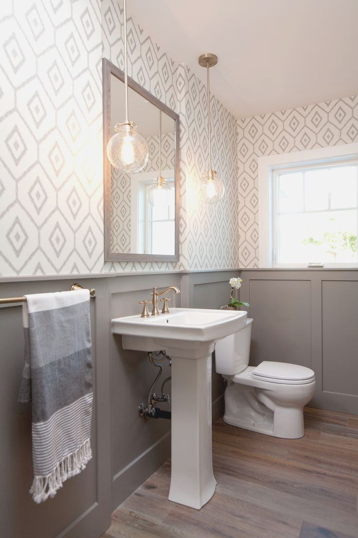 Top 25 Best Small Bathroom Wallpaper Ideas On Pinterest Half Full Bathroom Remodel Modern Farmhouse Bathroom Bathrooms Remodel