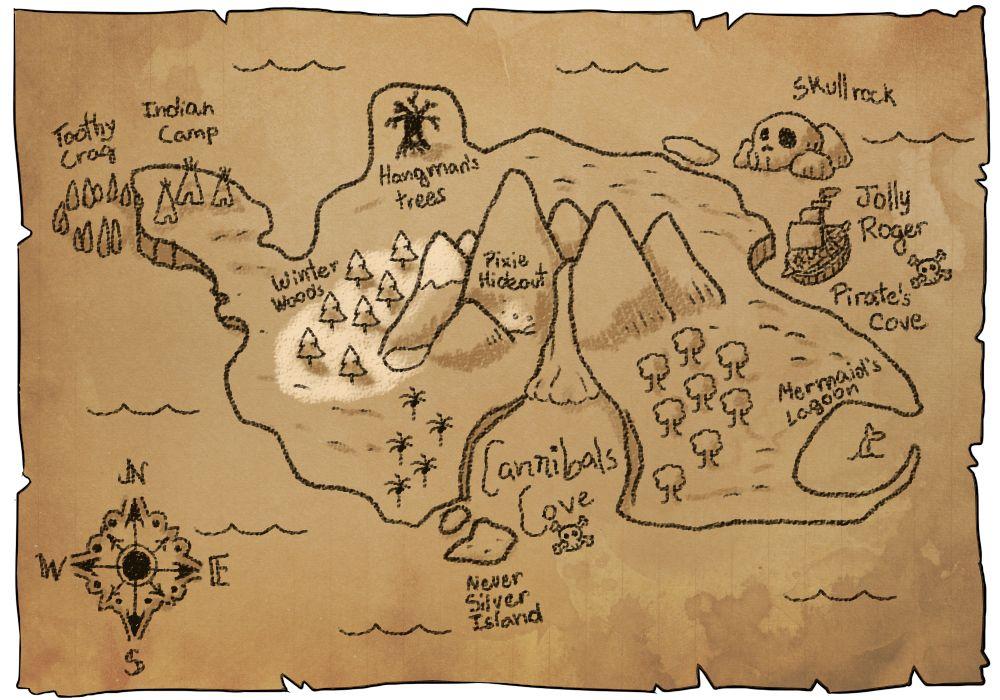 Neverland Map Fantasy Maps Neverland Map Neverland Tinkerbell