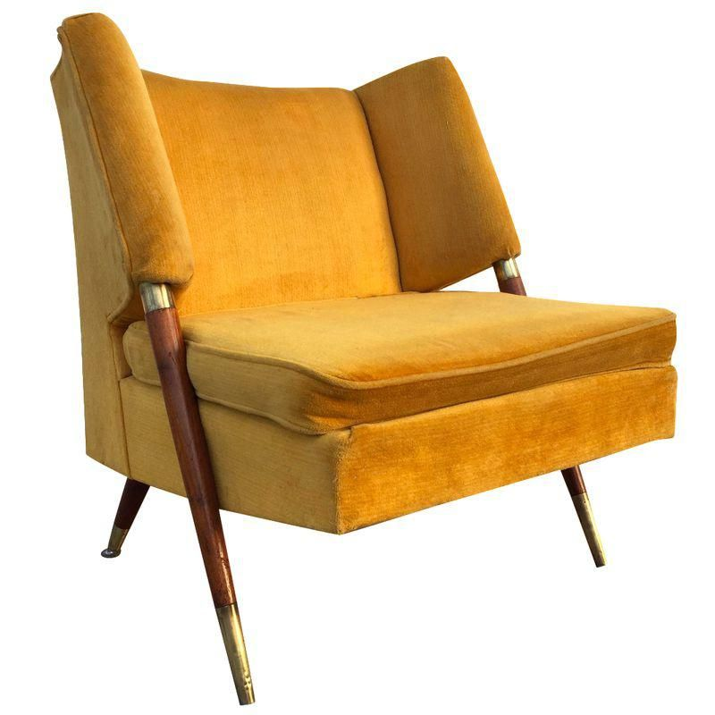 Magic Float Accent Chair: Mid Century Yellow Floating Lounge Chair