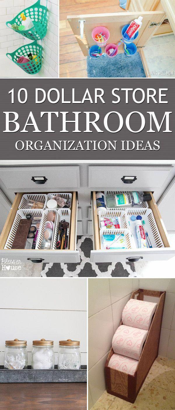 Photo of 10 Dollar Store Bathroom Organization Ideas