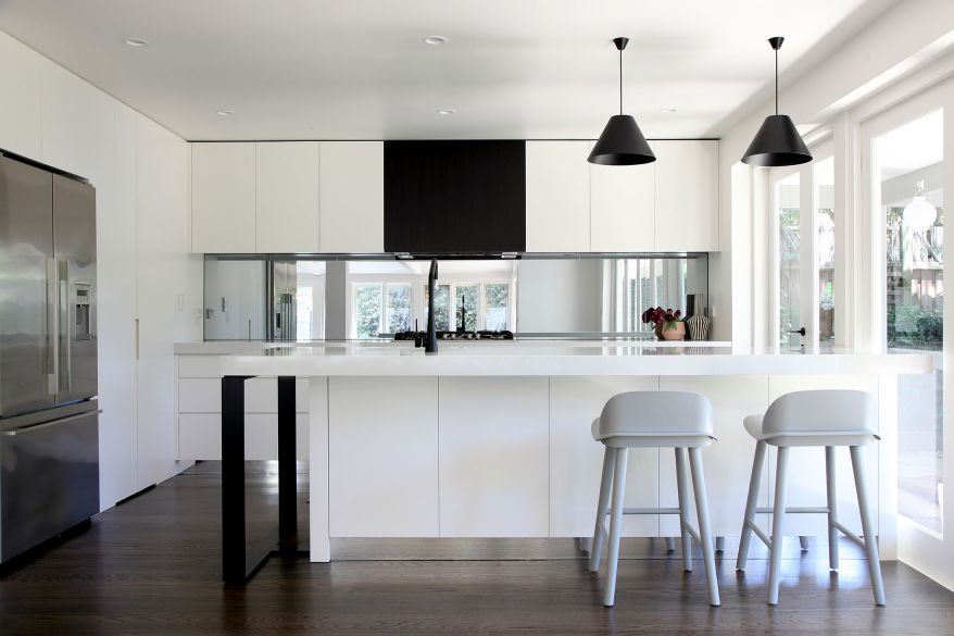 Kitchen Design Companies Glamorous Achromatic Kitchen Design Using High Contrast For Visual Interest Decorating Design