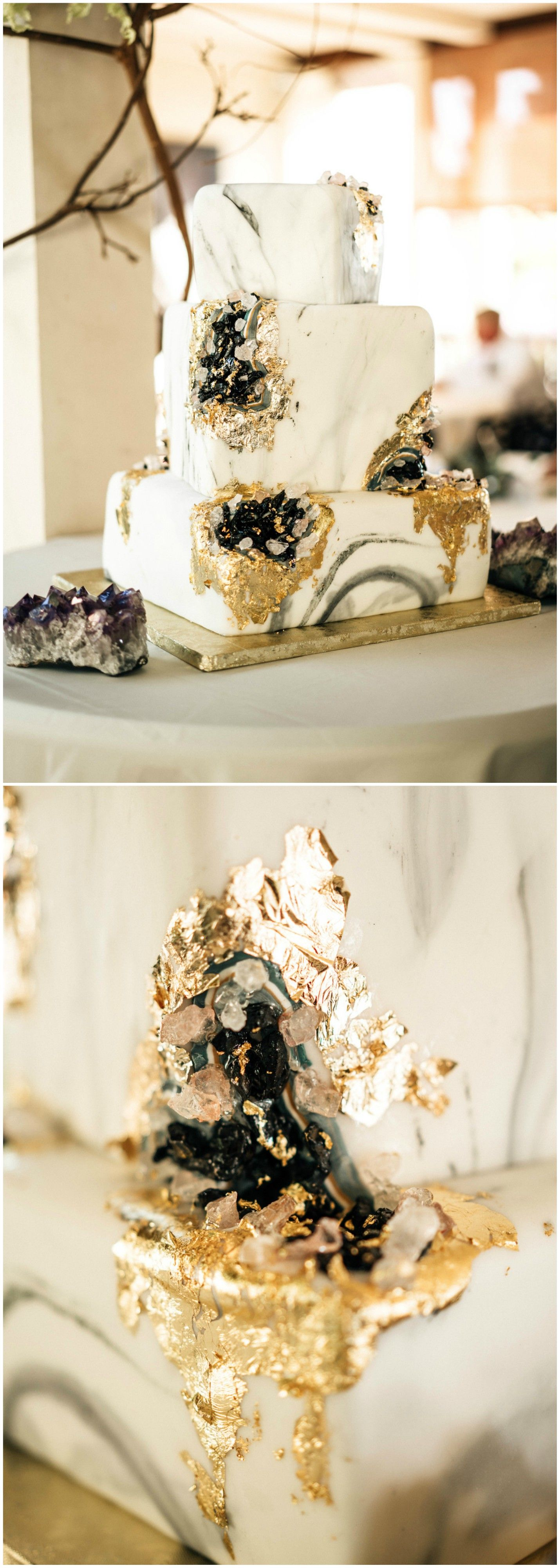 Unique wedding cake, boho wedding reception, grey marble design ...
